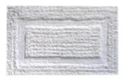 Down Etc 50cm by 90cm Cotton Beau Rivage Bath Rug, White