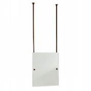 Allied Brass CH-92-SN Rectangle Ceiling Hung Mirror, Satin Nickel