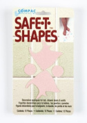 Compac Safe-T-Shapes Pink Fish, 3 Count