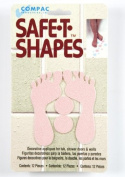 Compac Safe-T-Shapes Pink Feet 3 Count