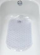 Ginsey Home Solutions Hair Catcher Bath Mat, Clear Vinyl