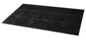 Update International FMHD-35B Rubber Anti-Fatigue Service Floor Mat, Black