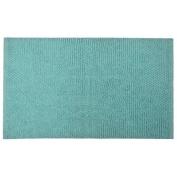 Jovi Home 100-Percent Cotton Chantilly Chenille Bath Mat, 50cm by 80cm , Aqua