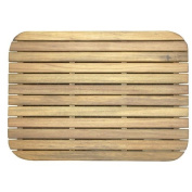 Teak Shower/Bath Mat with Rounded Corners (60cm x 46cm ) Unfinished