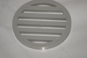 5 PACK - Grey Plastic Drain Cover 7.6cm inch diameter & 0.6cm inch thick - High Quality