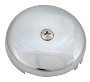 One-hole Face Plate for Waste & Overflow, Chrome Finish