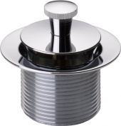 Peerless 76119 Universal Showering Components Lift and Turn Drain Stopper Bathtub, Chrome