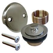 Brushed Nickel Bathtub Tub Drain Trim Assembly Kit, All Brass Construction!