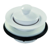 JR Products 95095 White Plastic Strainer with Pop-Stop Stopper
