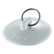 Waxman 7513100T Basin Stopper With Chain, White