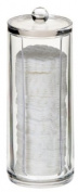 LilGift Cylinder Acrylic Cotton Pad Dispenser
