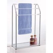 Organise It All Acrylic 3-Bar Towel Rack with Bottom Shelf
