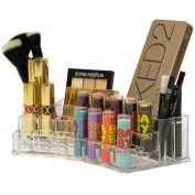 Large Acrylic Cosmetic Organiser for Lipsticks Foundations Creams Lotions and Brushes