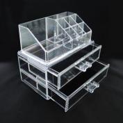 Luxury Acrylic Cosmetic Organiser Makeup Box 2 Drawers 1063*** Top and Bottom Set