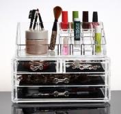 HAPC Acrylic Makeup Organiser Luxury Cosmetics Clear Case Storage Insert Holder Box, A-Type