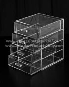 Acrylic Clear Cube Makeup Organiser 5 Drawers Display