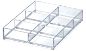 Like-It MX-T11 Drawer Organiser Tray Mini 6-Compartment, Clear