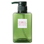 MOMA Muji PET Rectangular Pump Bottle - 400ml - Light Green