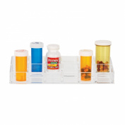 Danielle 12 Compartment Clear Acrylic Pill Box Organiser