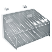 Azar Displays 222987 2-Tiered, 14 Compartment Cosmetic Tray