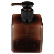 MOMA Muji PET Rectangular Pump Bottle - 250ml - Brown