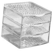 InterDesign Rain 3-Drawer Box, Clear