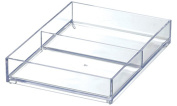 Like-It MX-T12 Drawer Organiser Tray Mini 2-Compartment, Clear