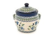 Polish Pottery Blue Tulip Small Canister