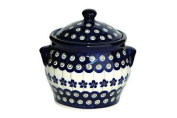 Polish Pottery Flowering Peacock Small Canister
