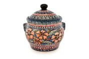 Polish Pottery Jungle Flower Medium Canister