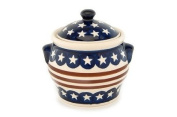 Polish Pottery Stars & Stripes Small Canister