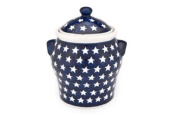 Polish Pottery Stars Large Canister