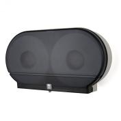 Palmer Fixture RD0027-01 Twin Jumbo Tissue Dispenser with 10cm Core, Dark Translucent