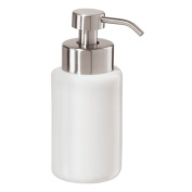 Oggi White Round Ceramic Liquid Soap Foamer Dispenser