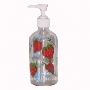 ArtisanStreet's Strawberry Design Soap or Lotion Pump Dispenser. Hand Painted.