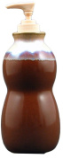 PRADO STONEWARE COLLECTION - Liquid Soap or Lotion Dispenser With Pump For Kitchen, Bathroom, Bedroom - Chocolate Brown