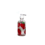 ArtisanStreet's Apple Design Soap or Lotion Pump Dispenser. Hand Painted, Made To Order