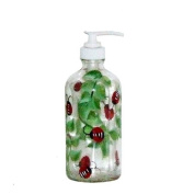 ArtisanStreet's Lady Bug Design Soap or Lotion Pump Dispenser. Hand Painted
