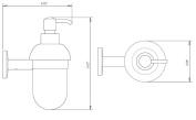 La Toscana AL01D PW Atlanta Soap Dispenser, Brushed Nickel