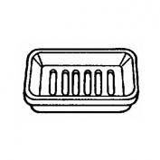 Homz 2pc White Soap Dish Kitchen/Bath 22330201.36