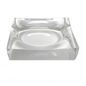 Clear Acrylic Medium Square Soap Dish