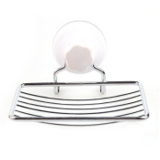 Fashion Strong Suction Bathroom Shower Accessory Soap Dish Holder Cup Tray