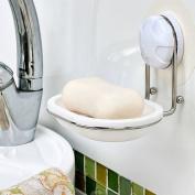 Garbath Suction Cup Soap Dish Holder, White, 260001
