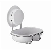 Garbath Suction Cup Soap Dish Holder, White, 260119
