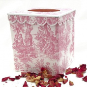 Pink Toile Tissue Holder ~ Tissue Box Cover ~ Tissue Box Holder ~ Kleenex Holder E56 ~ French Vintage Toile Print