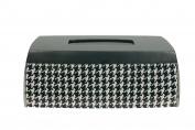 Blonder Home Accents Houndstooth Tissue Box, Elongated