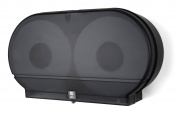 Palmer Fixture RD0027-02 Twin Jumbo Tissue Dispenser with 10cm Core, Black Translucent