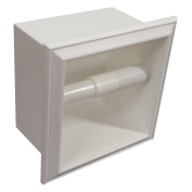 WG Wood Products Recessed Plastic Toilet Paper Holder