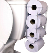 Side-of-Tank Toilet Paper Holder Convenient Storage Easy Access Supports Well