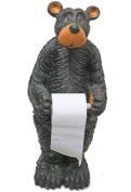 Willie Black Bear Toilet Paper Holder (Floor Standing) 70cm